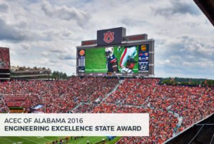Auburn University Jordan-Hare Stadium South End-Zone Scoreboard Replacement